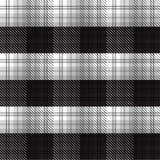 Fondo blanco y negro de la tela escocesa de tartán Foto de archivo libre de regalías