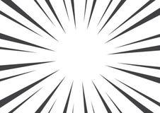 Fondo blanco y negro del arte pop con los rayos de sol Ilustración del vector libre illustration