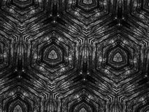 Fondo blanco y negro del caleidoscopio del mosaico del modelo Imagenes de archivo