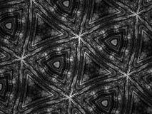 Fondo blanco y negro del caleidoscopio del mosaico del modelo Fotos de archivo