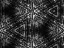 Fondo blanco y negro del caleidoscopio del mosaico del modelo Fotografía de archivo