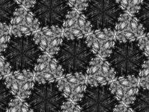 Fondo blanco y negro del caleidoscopio del mosaico del modelo Imágenes de archivo libres de regalías