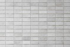 Fondo blanco y negro del modelo de la pared de ladrillos Foto de archivo libre de regalías