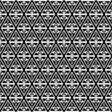 Fondo blanco y negro del modelo del triángulo del arte de Op. Sys. stock de ilustración