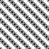 Fondo blanco y negro inconsútil con los copos de nieve decorativos Imagen de archivo libre de regalías