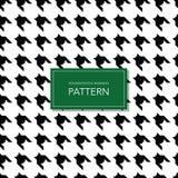 Fondo blanco y negro inconsútil de Houndstooth Modelo geométrico retro para la moda de la ropa o la textura de la materia textil  Imagen de archivo libre de regalías