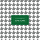 Fondo blanco y negro inconsútil de Houndstooth Modelo geométrico retro para la moda de la ropa o la textura de la materia textil  Imagenes de archivo