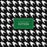 Fondo blanco y negro inconsútil de Houndstooth Modelo geométrico retro para la moda de la ropa o la textura de la materia textil  Imagen de archivo