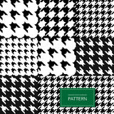 Fondo blanco y negro inconsútil de Houndstooth Modelo geométrico retro para la moda de la ropa o la textura de la materia textil  Fotos de archivo libres de regalías
