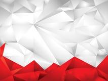 Fondo blanco y rojo del polígono Fotos de archivo libres de regalías