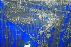 Fondo blu arrugginito Fotografia Stock