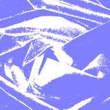 Fondo blu astratto con gli elementi bianchi illustrazione di stock