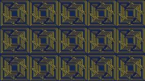 Fondo blu astratto con i modelli dell'oro, immagine raster per Th Immagini Stock
