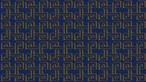 Fondo blu astratto con i modelli dell'oro, immagine raster per Th Immagine Stock