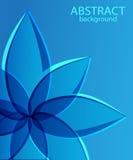 Fondo blu astratto con il fiore Fotografia Stock Libera da Diritti