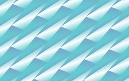 Fondo blu astratto dei triangoli piegati 3D Fotografie Stock Libere da Diritti