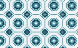 Fondo blu astratto del modello del cerchio royalty illustrazione gratis
