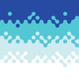 Fondo blu astratto del modello del cerchio dell'onda Immagine Stock