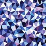 Fondo blu astratto del triangolo di colore Immagini Stock