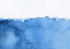 Fondo blu astratto dell'acquerello Immagine Stock Libera da Diritti
