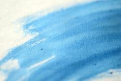 Fondo blu astratto dell'acquerello di tiraggio della mano fotografia stock libera da diritti