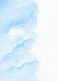 Fondo blu astratto dell'acquerello Inverno, simbolo dell'acqua Immagini Stock Libere da Diritti