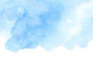 Fondo blu astratto dell'acquerello Inverno, simbolo dell'acqua Fotografia Stock