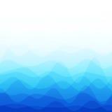 Fondo blu astratto dell'onda Fotografie Stock