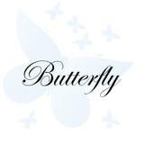 Fondo blu astratto delle farfalle di vettore Fotografia Stock