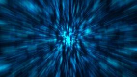Fondo blu astratto dello zoom rappresentazione 3d illustrazione di stock