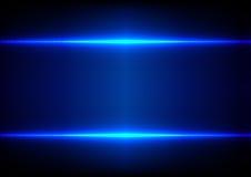 Fondo blu astratto di effetto della luce Immagini Stock
