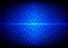 Fondo blu astratto di griglia di tecnologia illustrazione de Immagine Stock Libera da Diritti