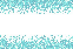 Fondo blu astratto di vettore del mosaico dai cerchi con lo spazio della copia Illustrazione di Stock