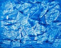 Fondo blu astratto dipinto acrilico su cartone Fotografia Stock