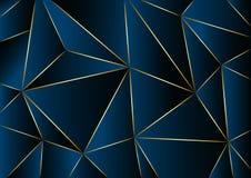 Fondo blu astratto nel poli stile basso Illustrazione di vettore illustrazione di stock