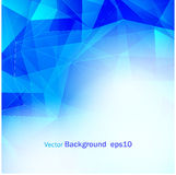 Fondo blu astratto poli EPS10 illustrazione vettoriale