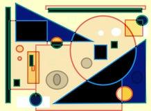 Fondo blu beige variopinto futuristico astratto, forme geometriche Immagine Stock