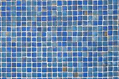 Fondo blu ceramico della parete delle mattonelle Fotografie Stock