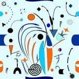 Fondo blu-chiaro astratto, modello senza cuciture 18--05 Illustrazione Vettoriale