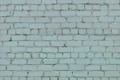 Fondo blu-chiaro del muro di mattoni nella zona rurale Immagini Stock Libere da Diritti