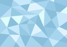 Fondo blu-chiaro del poligono di colore pastello Immagine Stock