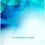 Fondo blu-chiaro di forma poligonale di colore illustrazione di stock