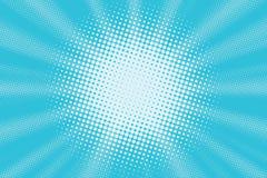 Fondo blu-chiaro di Pop art illustrazione di stock