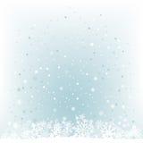 Fondo blu-chiaro molle della maglia della neve Fotografia Stock