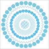 Fondo blu circolare grafico astratto per il DES Fotografie Stock