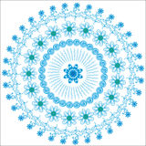 Fondo blu circolare grafico astratto per il DES Fotografia Stock Libera da Diritti