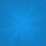 Fondo blu comico dei retro raggi Immagine Stock Libera da Diritti