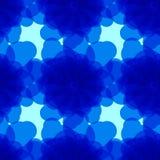 Fondo blu con i cerchi astratti Fotografia Stock