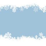 Fondo blu con i fiocchi di neve. Illustrazione Vettoriale