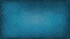 Fondo blu con i modelli rotondi astratti Fondo di gradiente Fotografie Stock Libere da Diritti